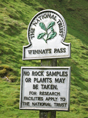 Winnats Pass Sign